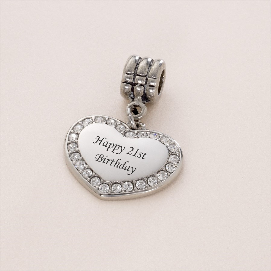 18th birthday bracelet charm charming engraving