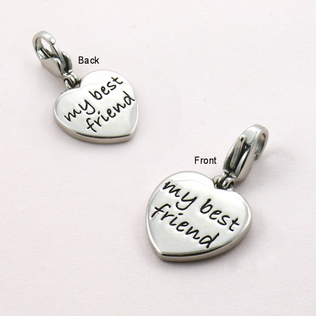 my best friend charm charming engraving