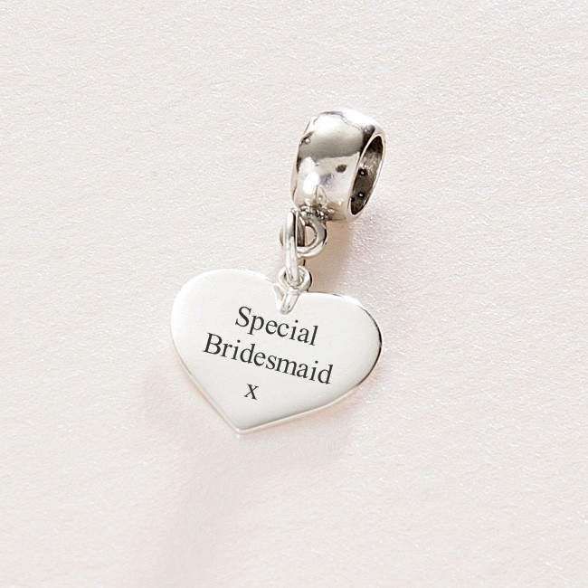 special bridesmaid sterling silver charm fits