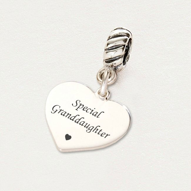 Special Granddaughter charm- Sterling Silver fits Pandora