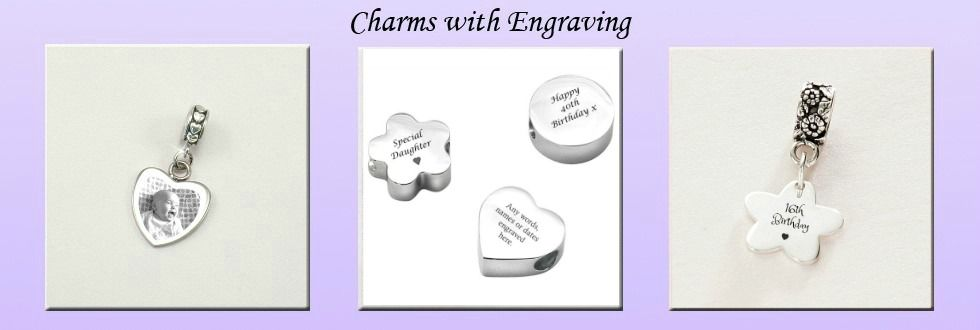 Personalised Charms with Engraving