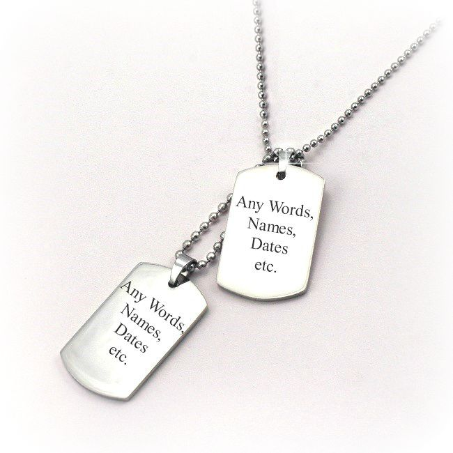 necklaces for men amp boys with engraving charming engraving