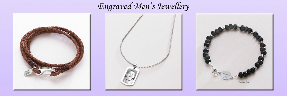 Men's Jewellery with Engraving