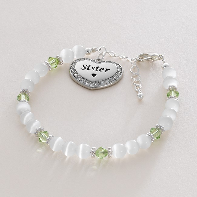 Birthstone Bracelet with Charm Choice and Engraving | Charming Engraving