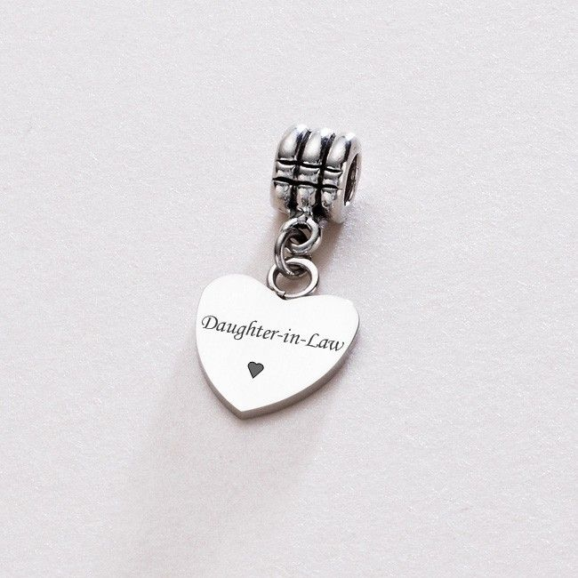 Daughter In Law Heart On Bail Charming Engraving