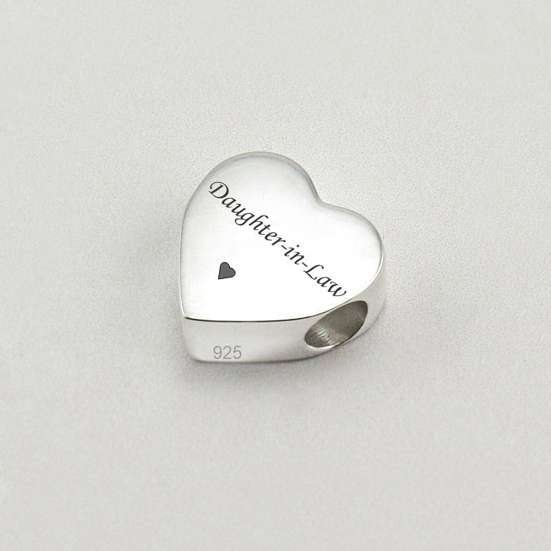 Personalised Silver Heart Charm