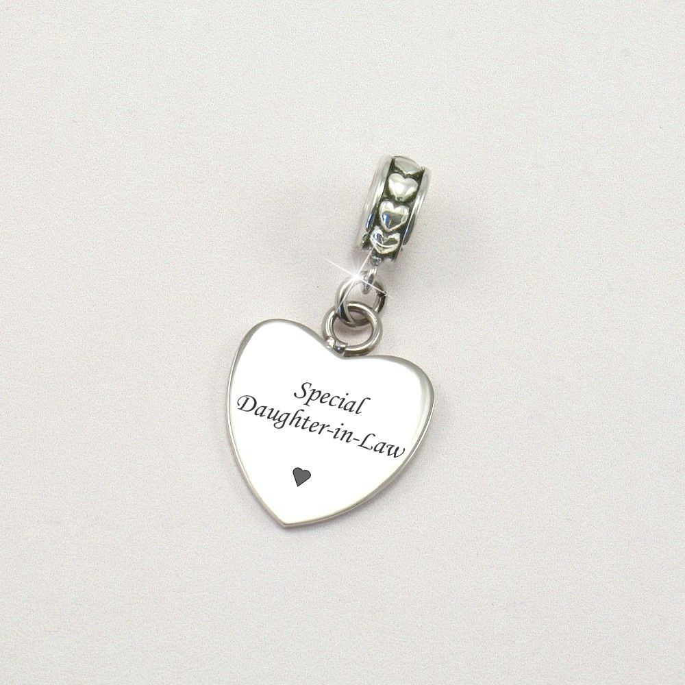 5aa19f25c Special Daughter-in-Law Charm for Bracelet | Charming Engraving