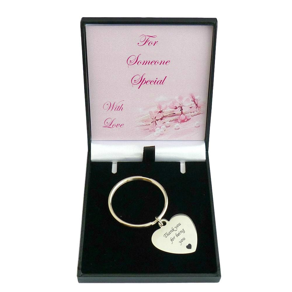 Engraved keyring for a woman or girl in special gift box