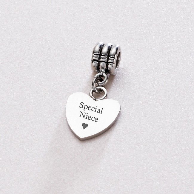 Special Niece Heart On Bail Charming Engraving