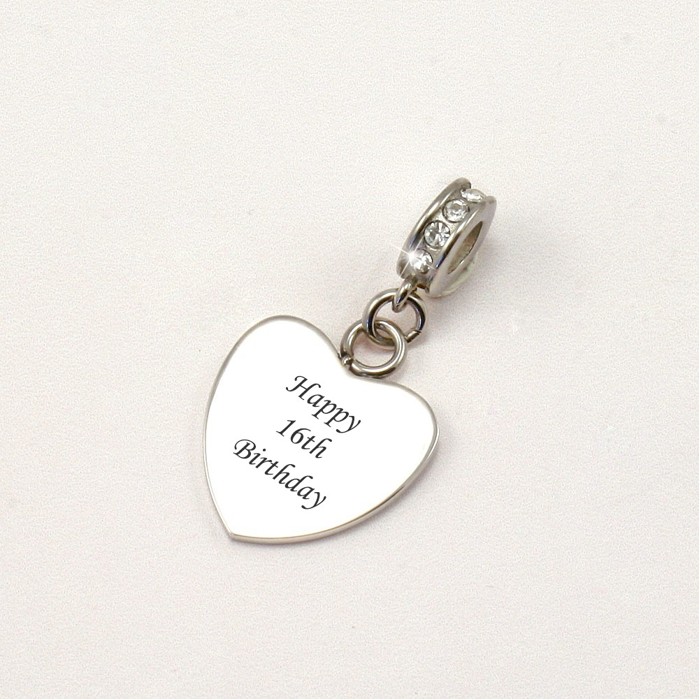 Happy 16th Birthday Sterling Silver Heart Shaped Necklace YnOebgq