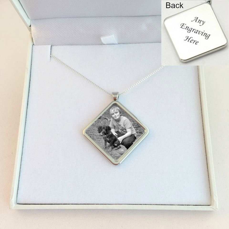 necklace silver s emma swarovski crystal personalised sterling and pendant