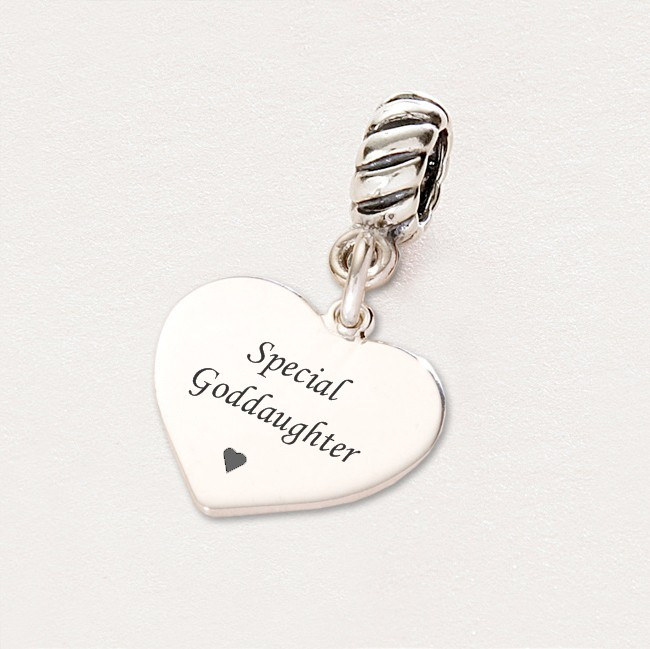 Special Goddaughter Charm Sterling Silver Fits Pandora