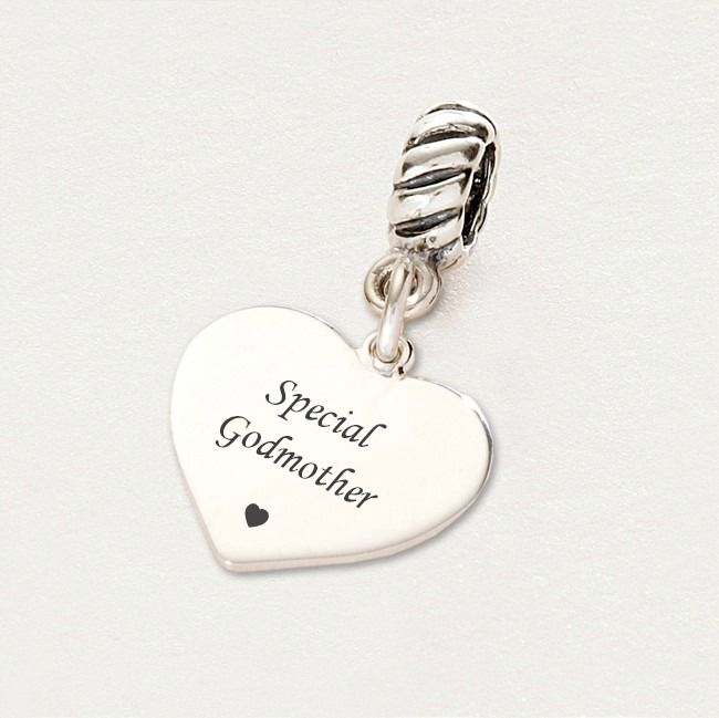 Special Godmother charm Sterling Silver fits Pandora ...