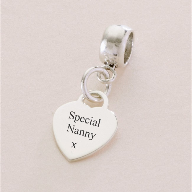 Special Nanny Sterling Silver Heart Charm