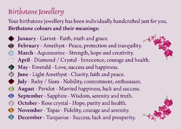 Birthstone Jewellery Information