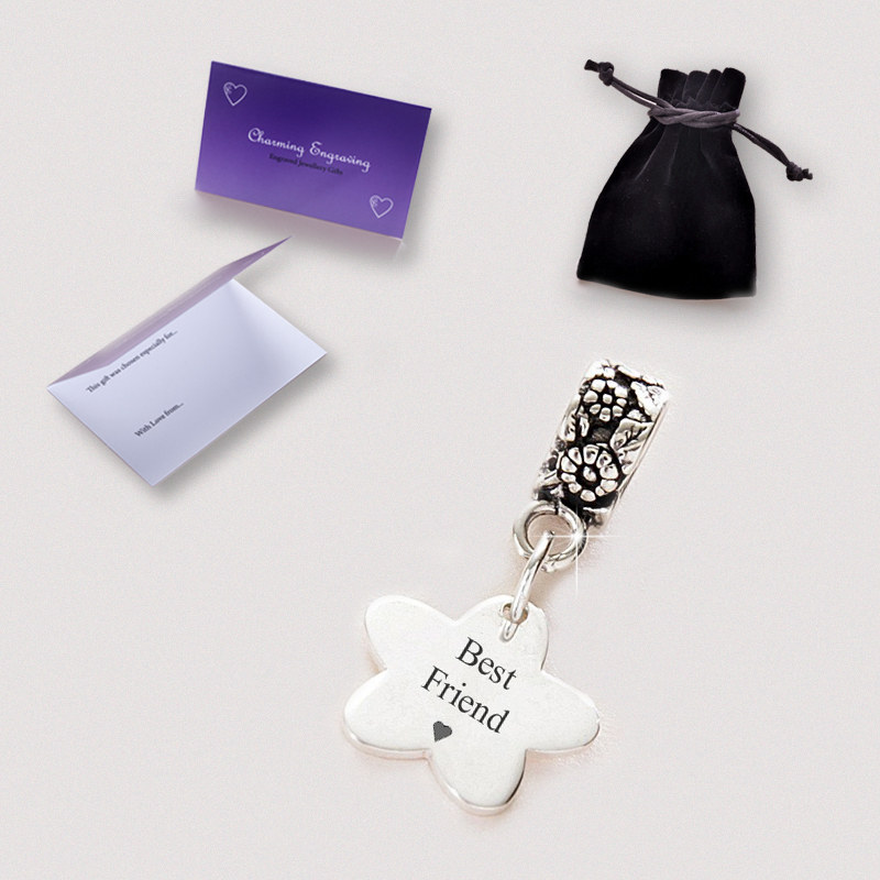 Silver Charm with Engraving