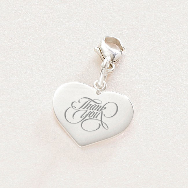 Silver Thank You Charms