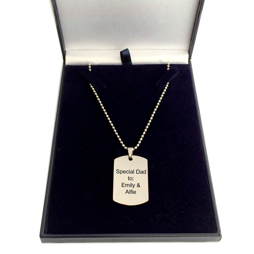 Engraved Necklaces for Men
