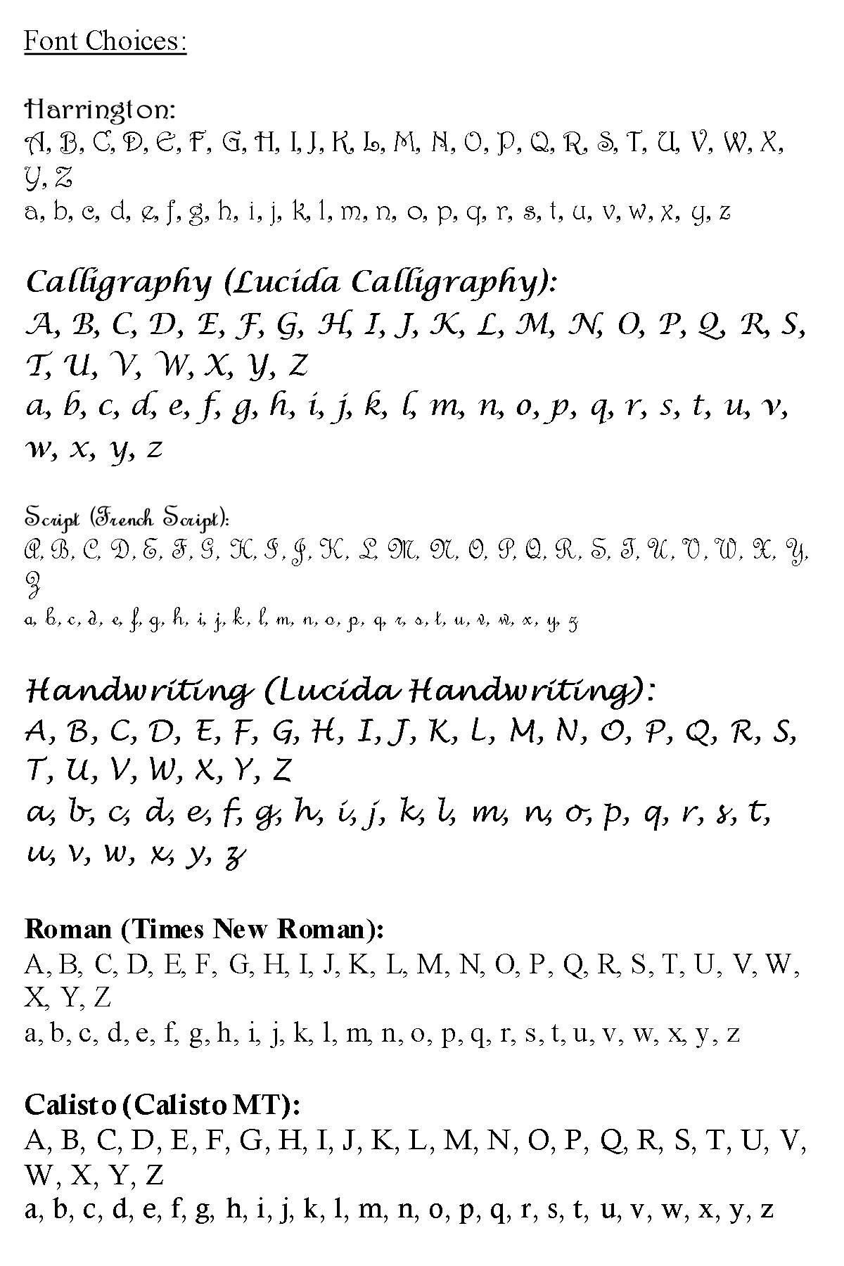 Engraving Fonts | Charming Engraving