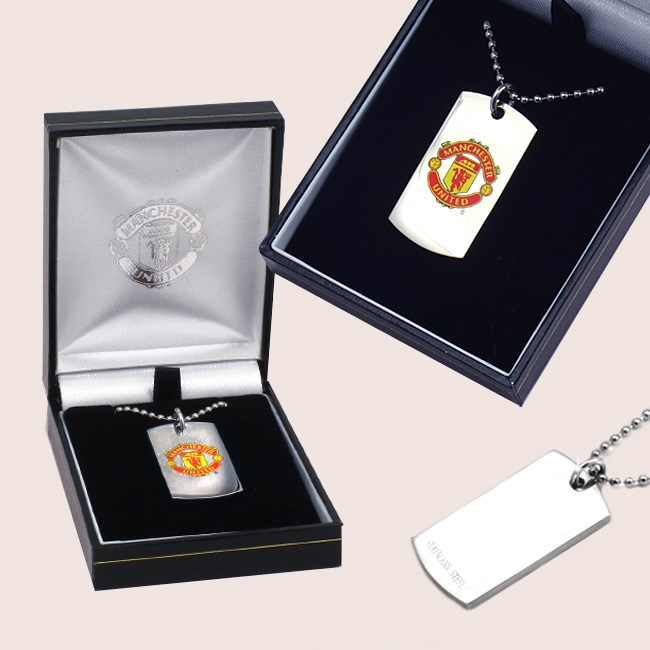 Engraved Football Dogtag Necklaces