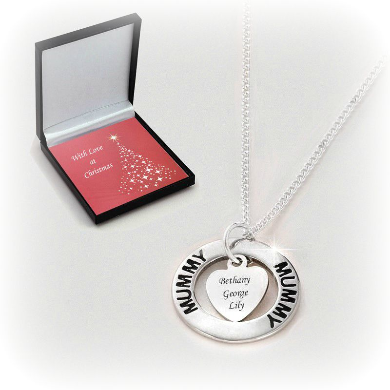 Engraved Christmas Necklace