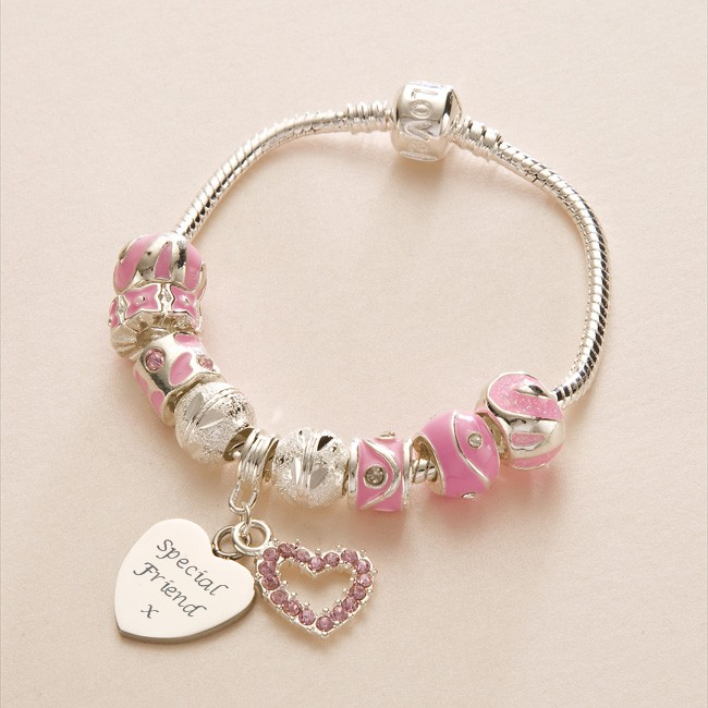 Charm Bracelets with Engraving