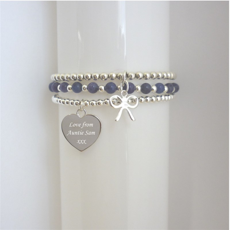 Stacking Bracelets with Engraving