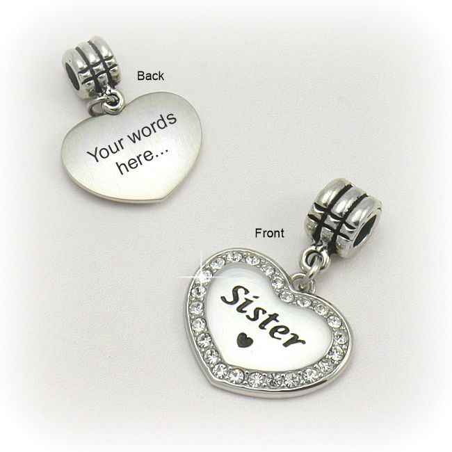 Sister Charm with Engraving
