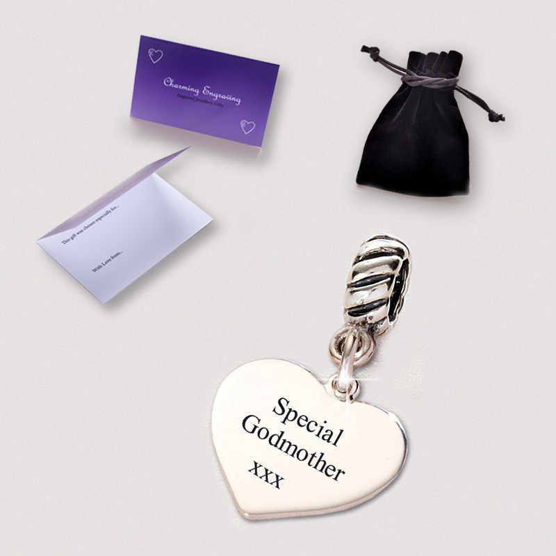 Engraved Godmother Charms