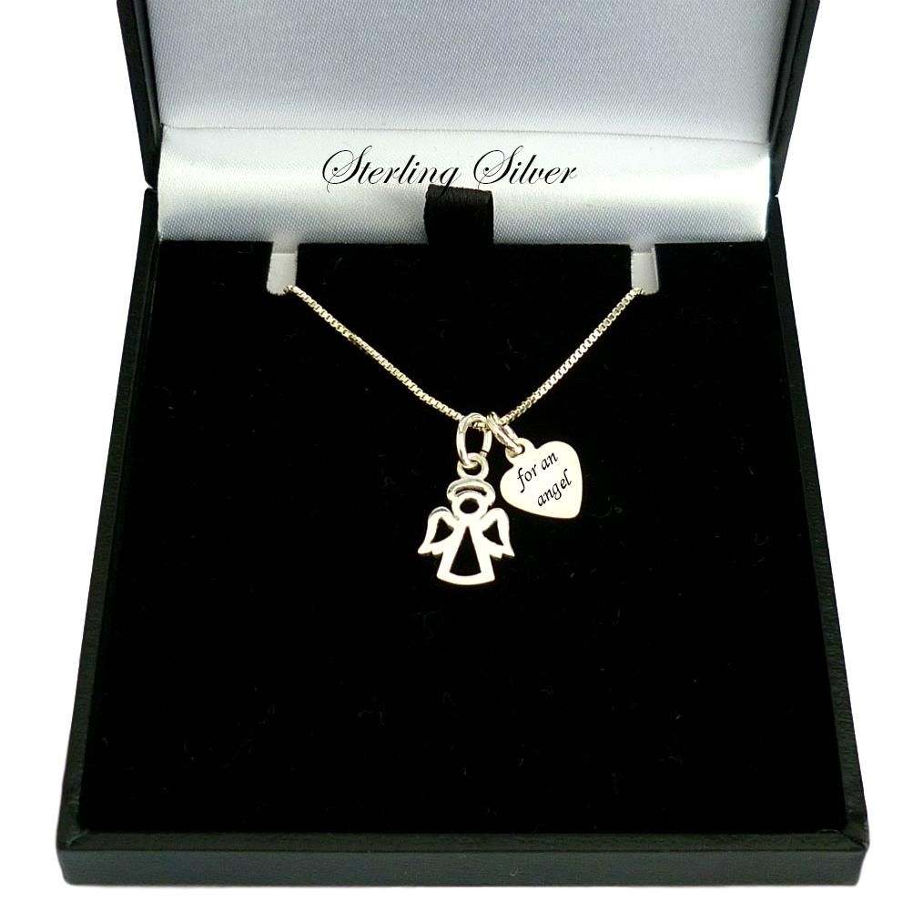 Angel Necklace with Engraving